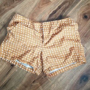 Burnt orange khaki mid length shorts